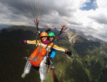 Paragliding in Val Gardena