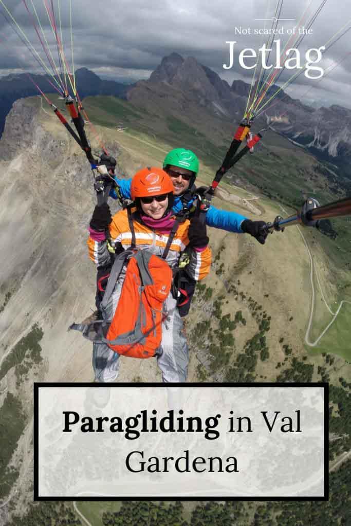 Paragliding in Val Gardena Gröden South Tyrol St Ulrich