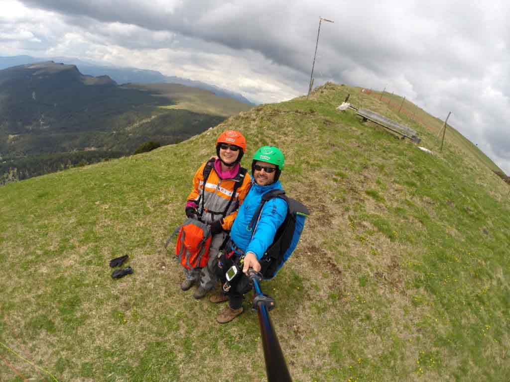Paragliding from Mount Seceda in Val Gardena South Tyrol
