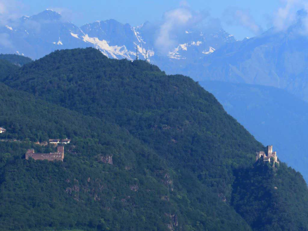 Boymont and Hocheppan castles in Eppan South Tyrol
