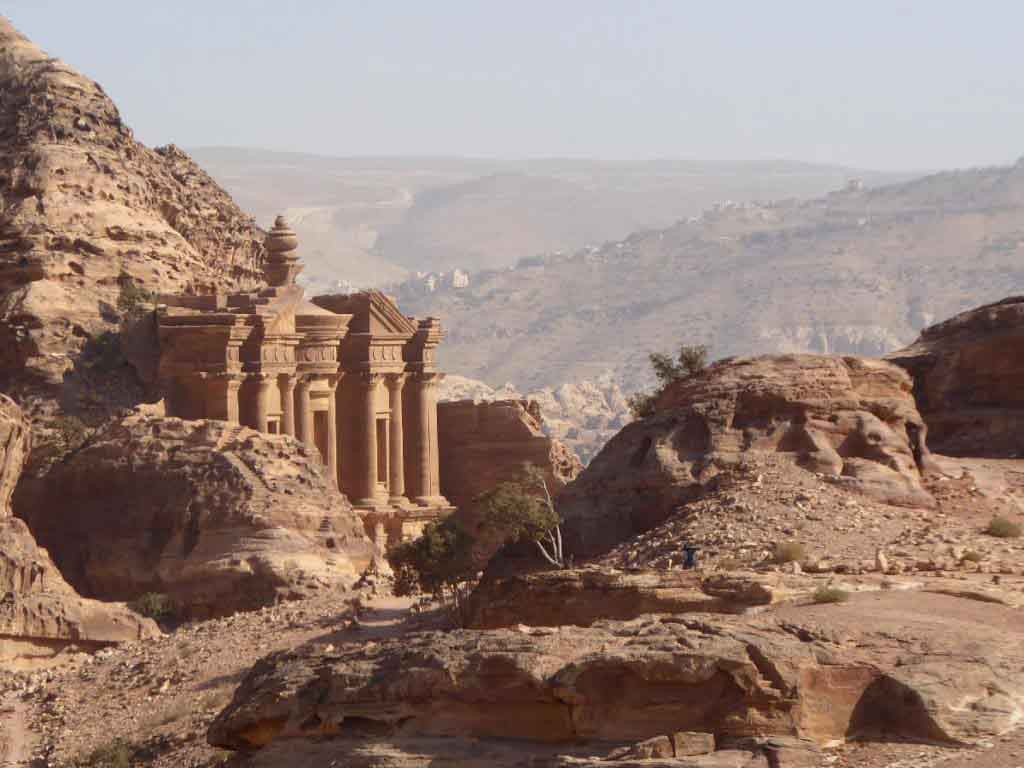 Monastery Petra Jordan mountains, view, visit Petra, things to do in Petra