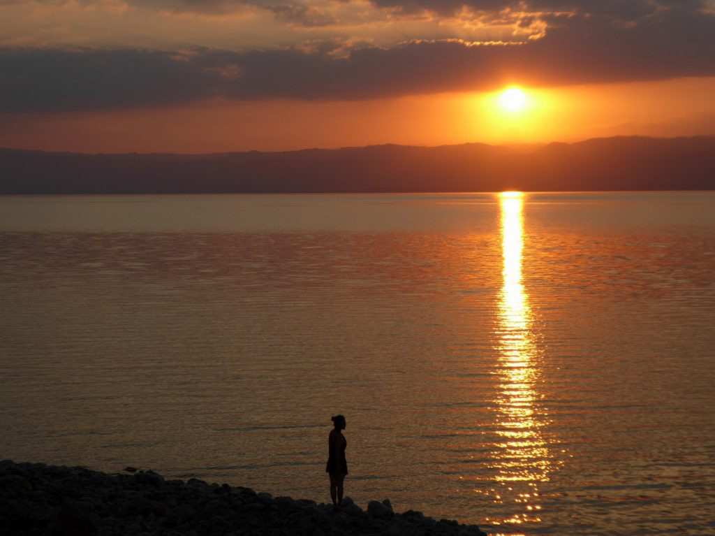 sunset Dead Sea Jordan