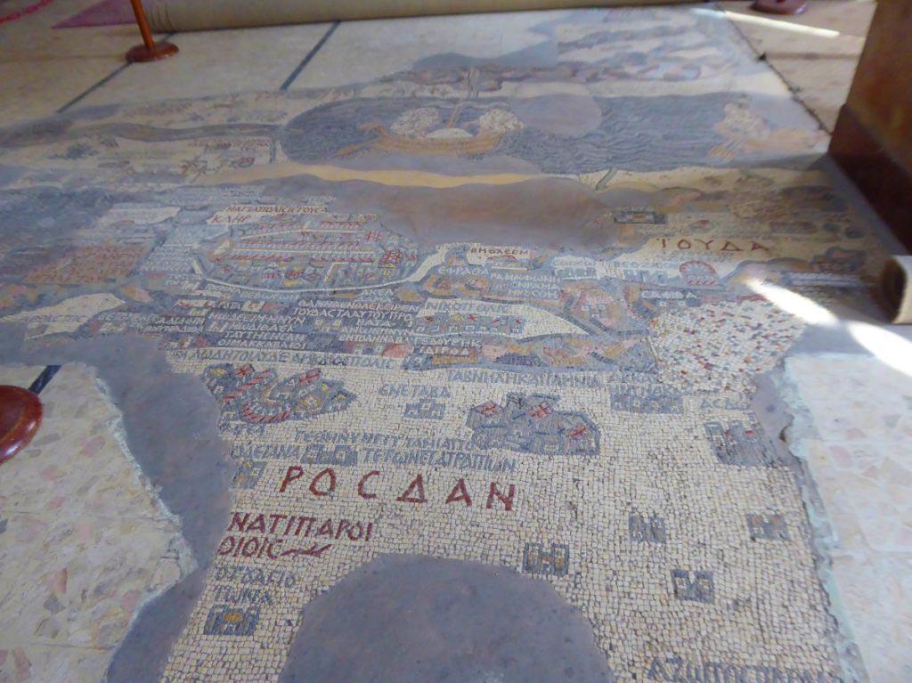 Madaba map, St. George, Madaba Jordan