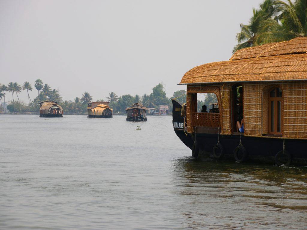 houseboat, backwater, kerala, india