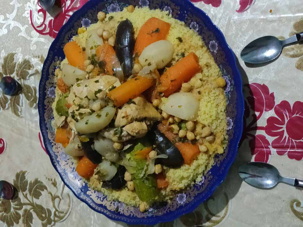 Couscous, Moroccan homemade food