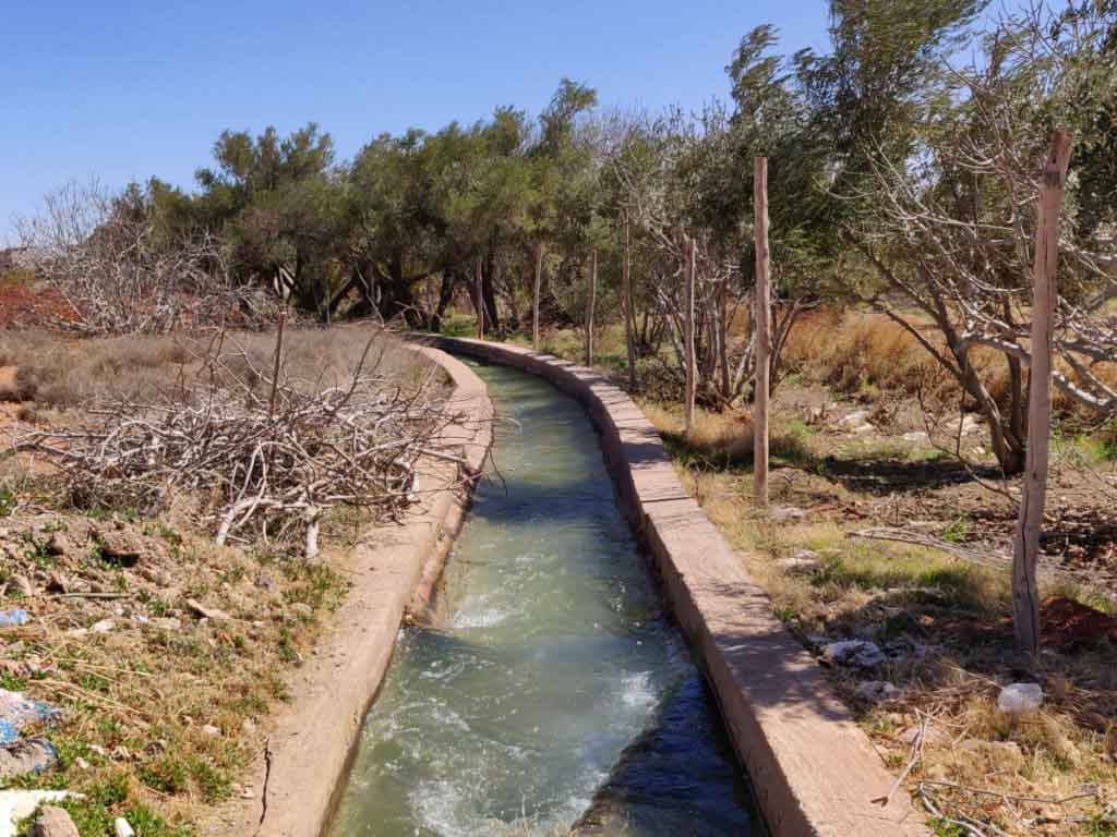 Water system, canal, Errachidia