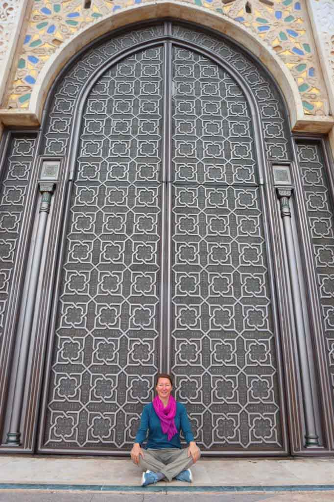 Hassan 2 mosque Casablanca big door