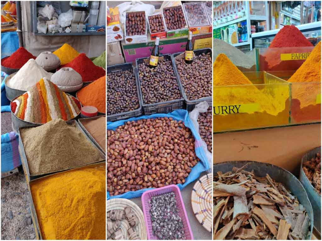 spices and dates in Morocco