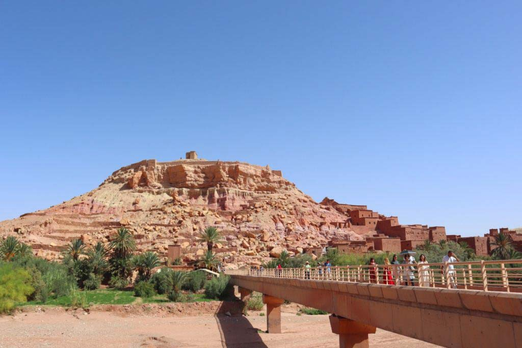clay village on mountain side. Ait Ben Haddou, perfect day trip from Marrakech