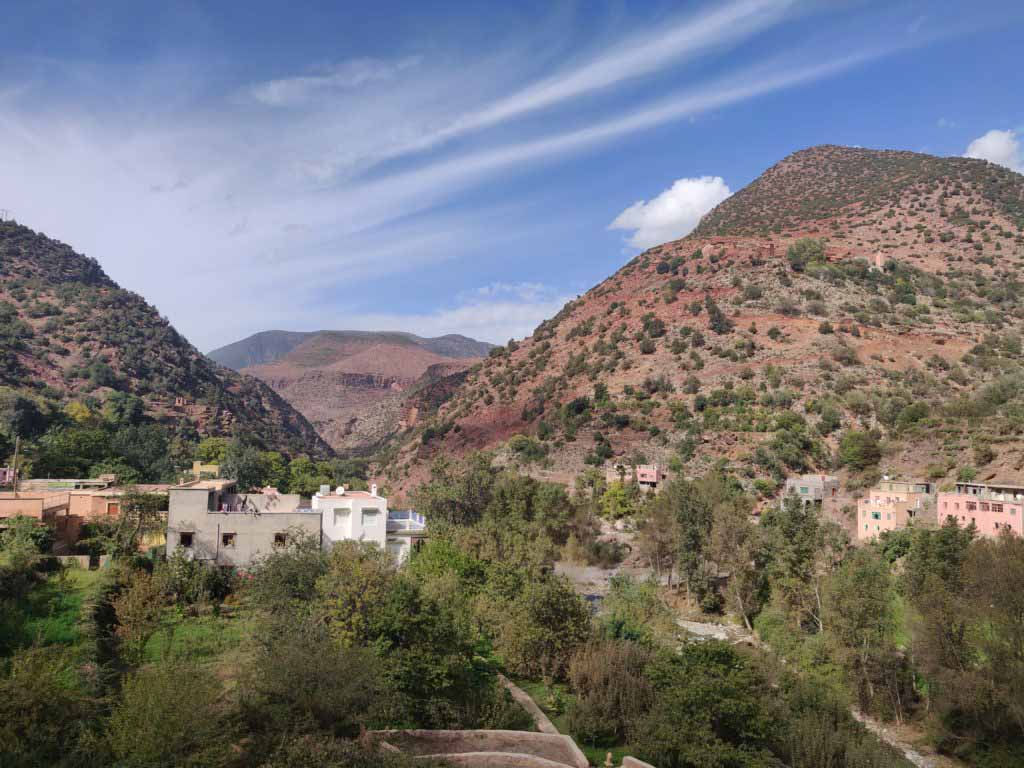 Houses in the mountains of Morocco