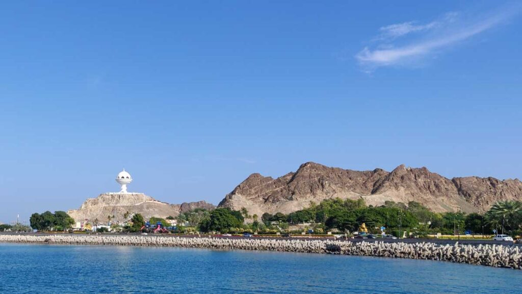 the biggest frankincense burner in the world on the coastline of Muscat, Oman